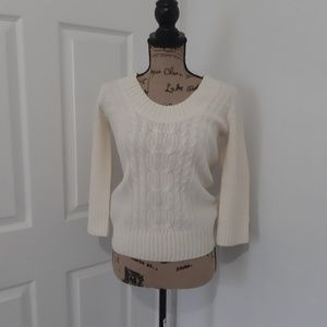 🔥Express cable knit Cream sweater